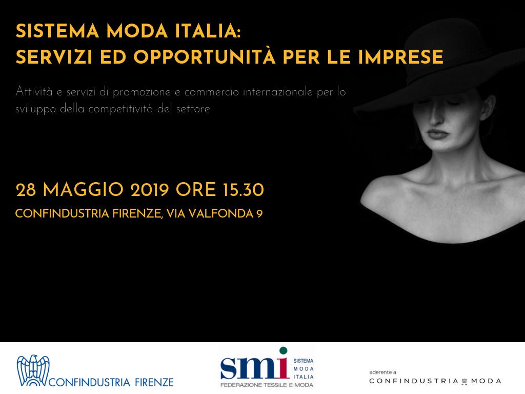 SISTEMA MODA ITALIA: SERVIZI ED OPPORTUNITA' PER LE IMPRESE