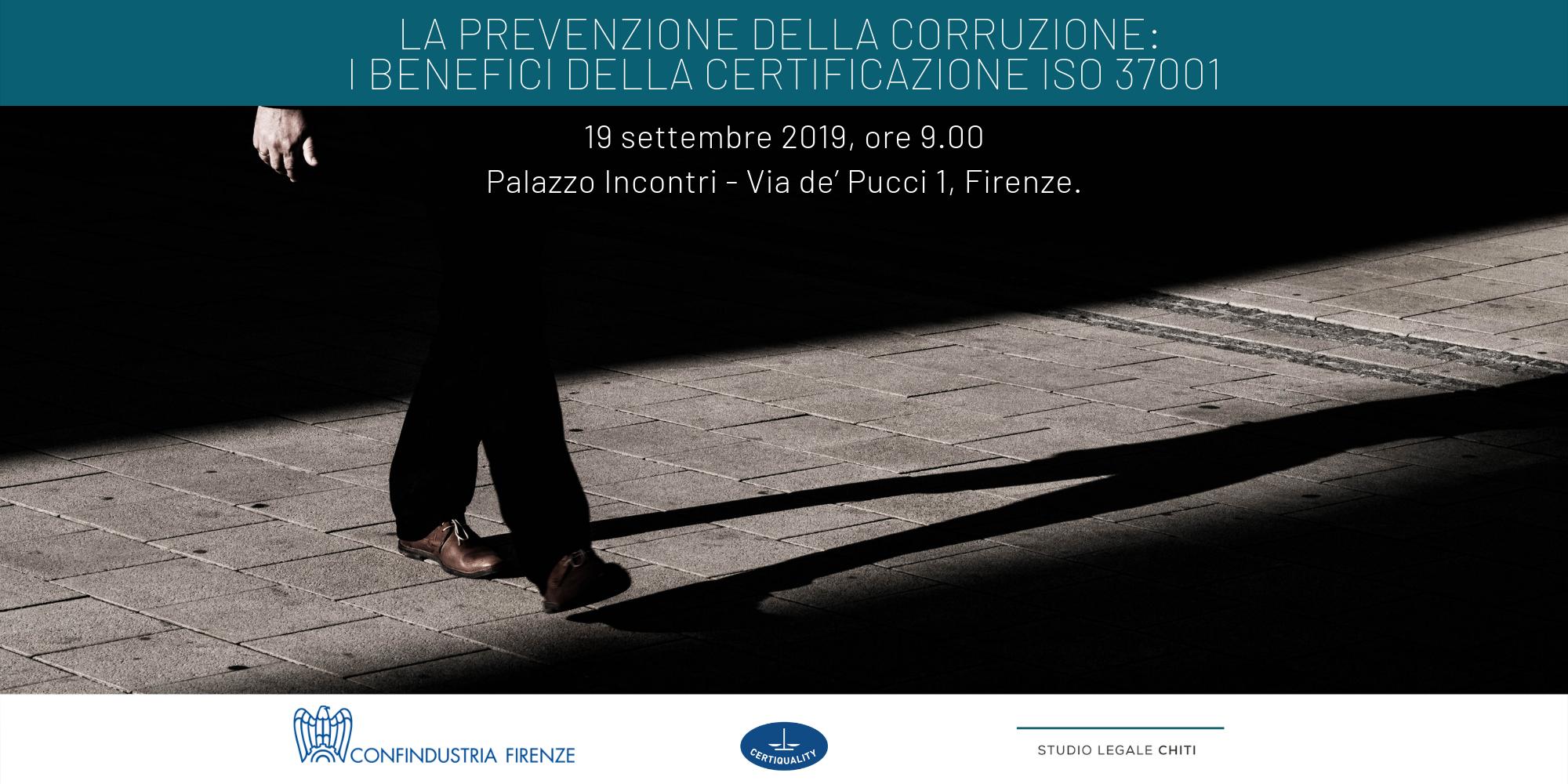 La prevenzione della corruzione: i benefici della certificazione ISO 37001