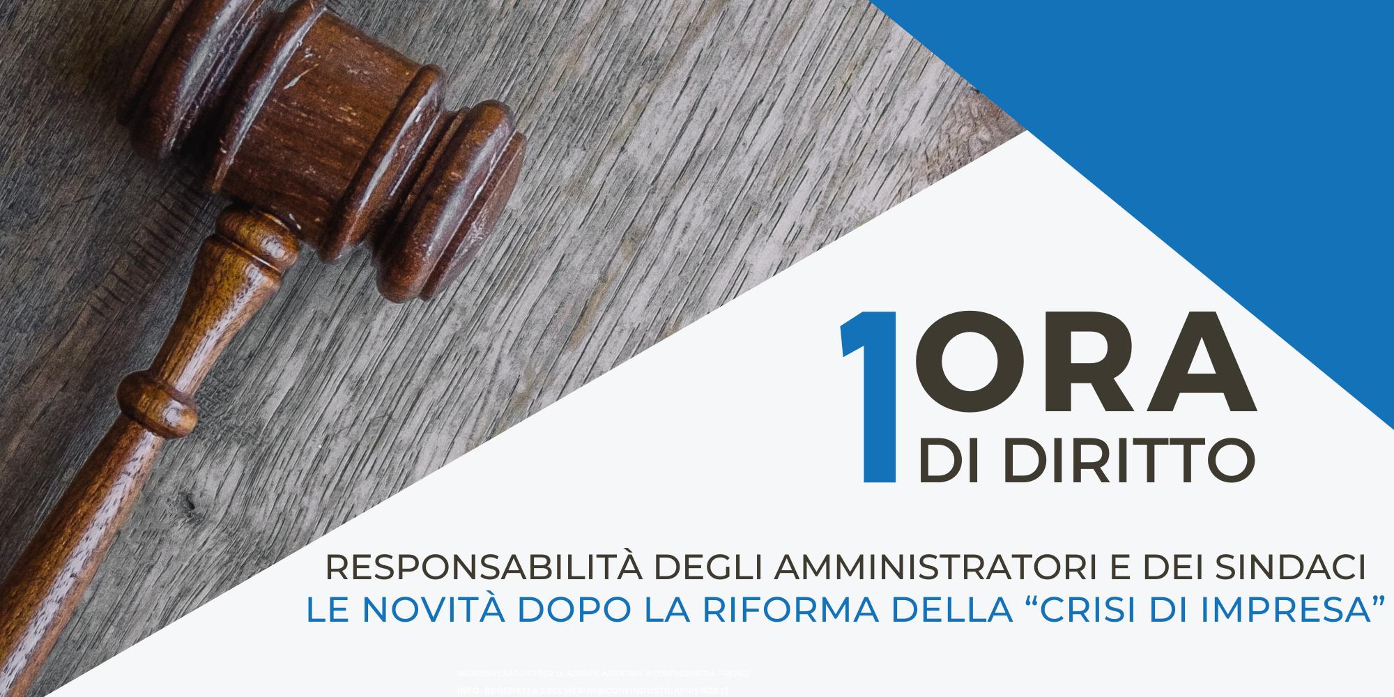 1ora di diritto - responsabilità degli amministratori e dei sindaci
