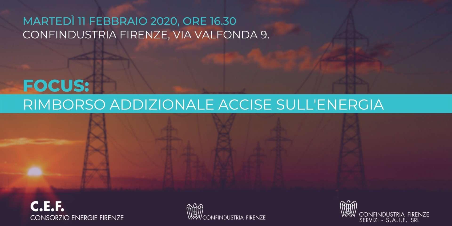 Focus: Rimborso addizionale provinciale accise sull'energia