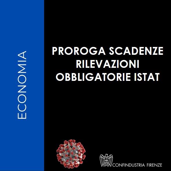 Proroga scadenze ISTAT