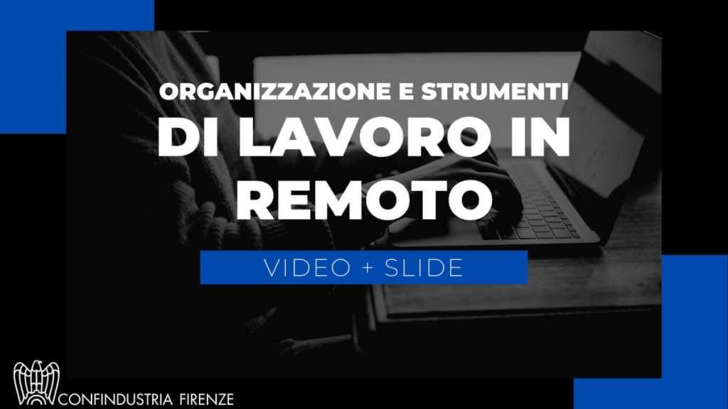 lavoro remoto video e slide
