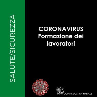 CORONAVIRUS indicazioni Formazione lavoratori