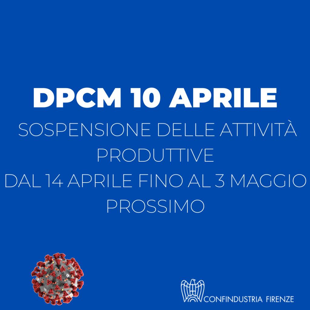 DPCM 10 aprile