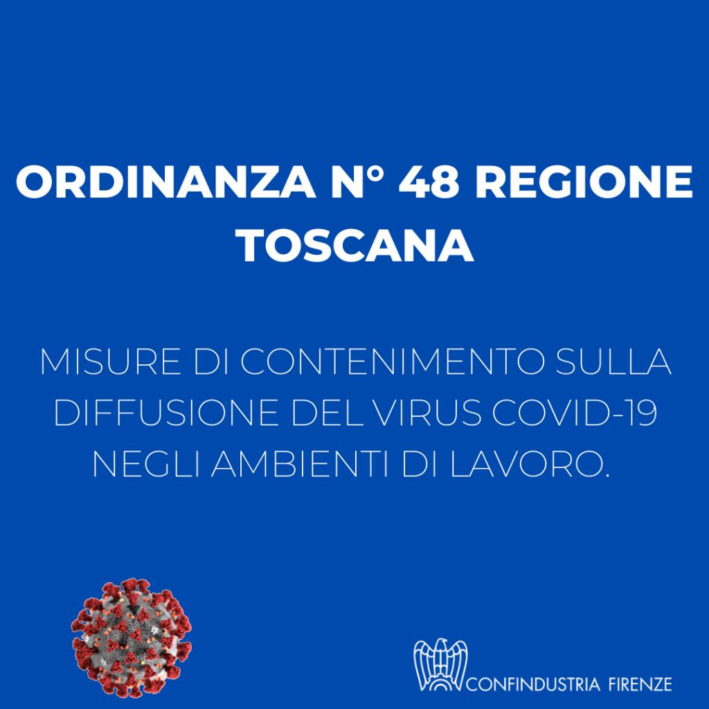 Ordinanza n 48 regione toscana