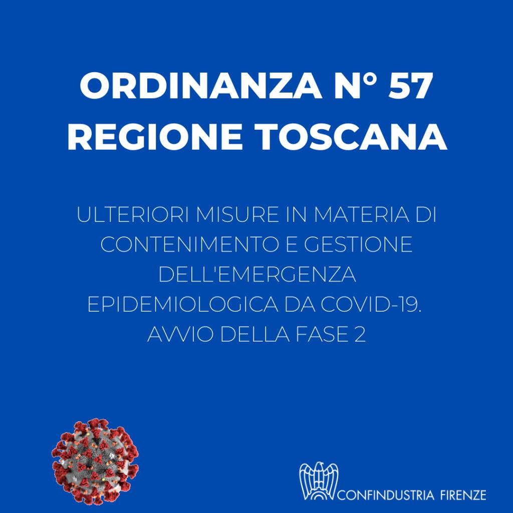 ordinanza N° 57 Regione -Toscana