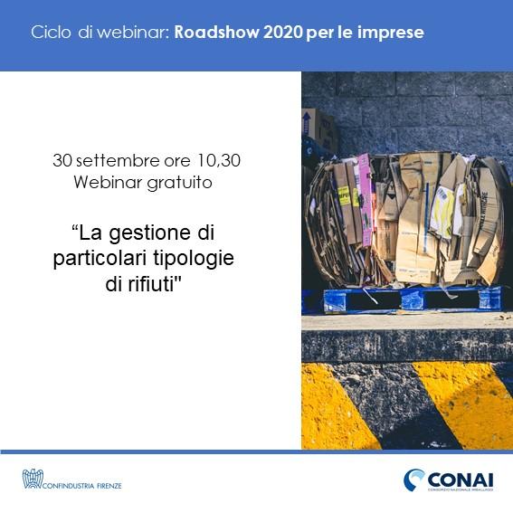 """Roadshow CONAI: webinar su """"La gestione di particolari tipologie di rifiuti"""""""