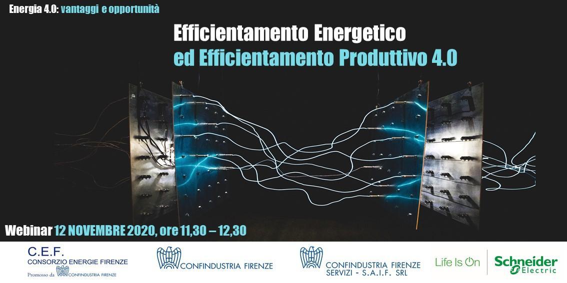 Efficientamento Energetico ed Efficientamento Produttivo 4.0