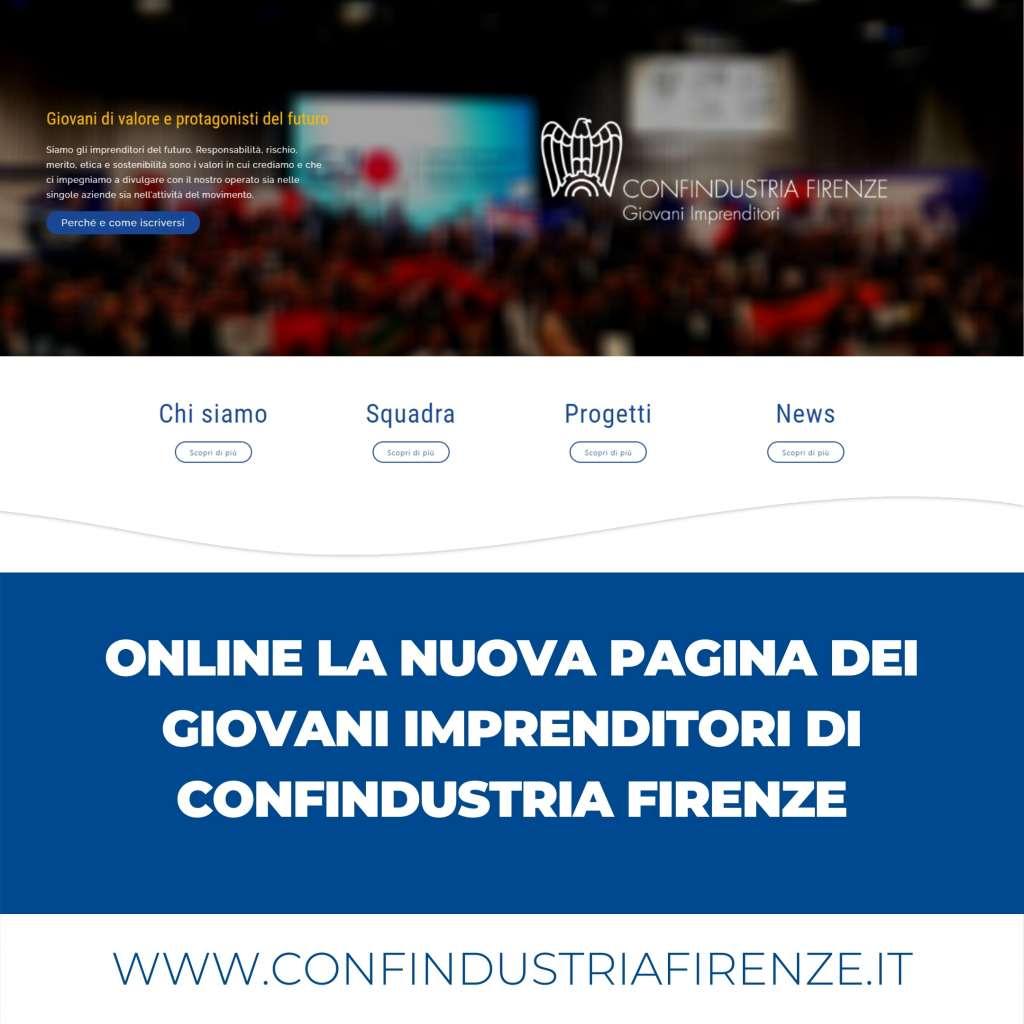 Online la nuova pagina del Gruppo Giovani Imprenditori di Confindustria Firenze