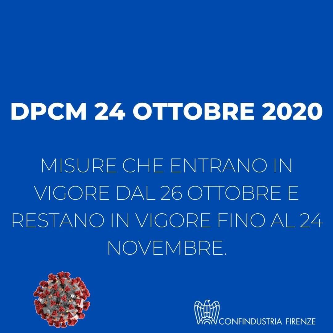 Dpcm 245 ottobre