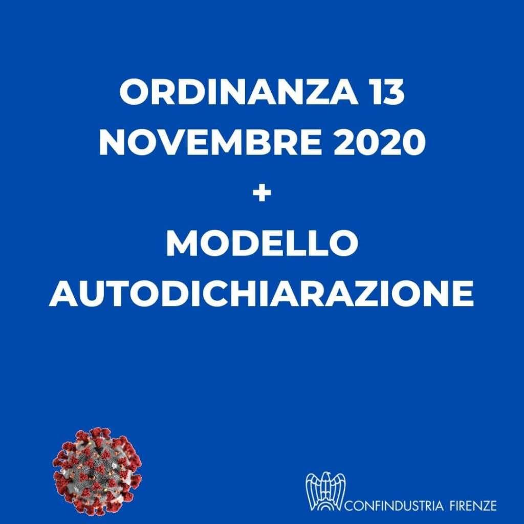 ordinanza 13 novembre 2020