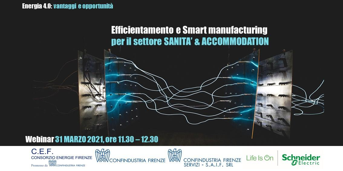 Efficientamento e Smart manufacturing per il settore Sanità & Accommodation