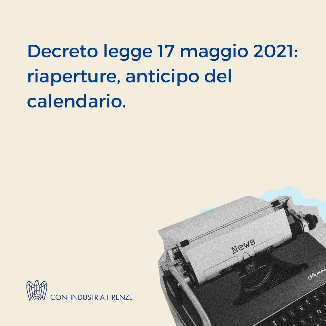 decreto legge 17 maggio 2021