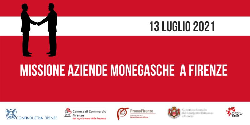 Missione di aziende monegasche a Firenze, 13 luglio 2021