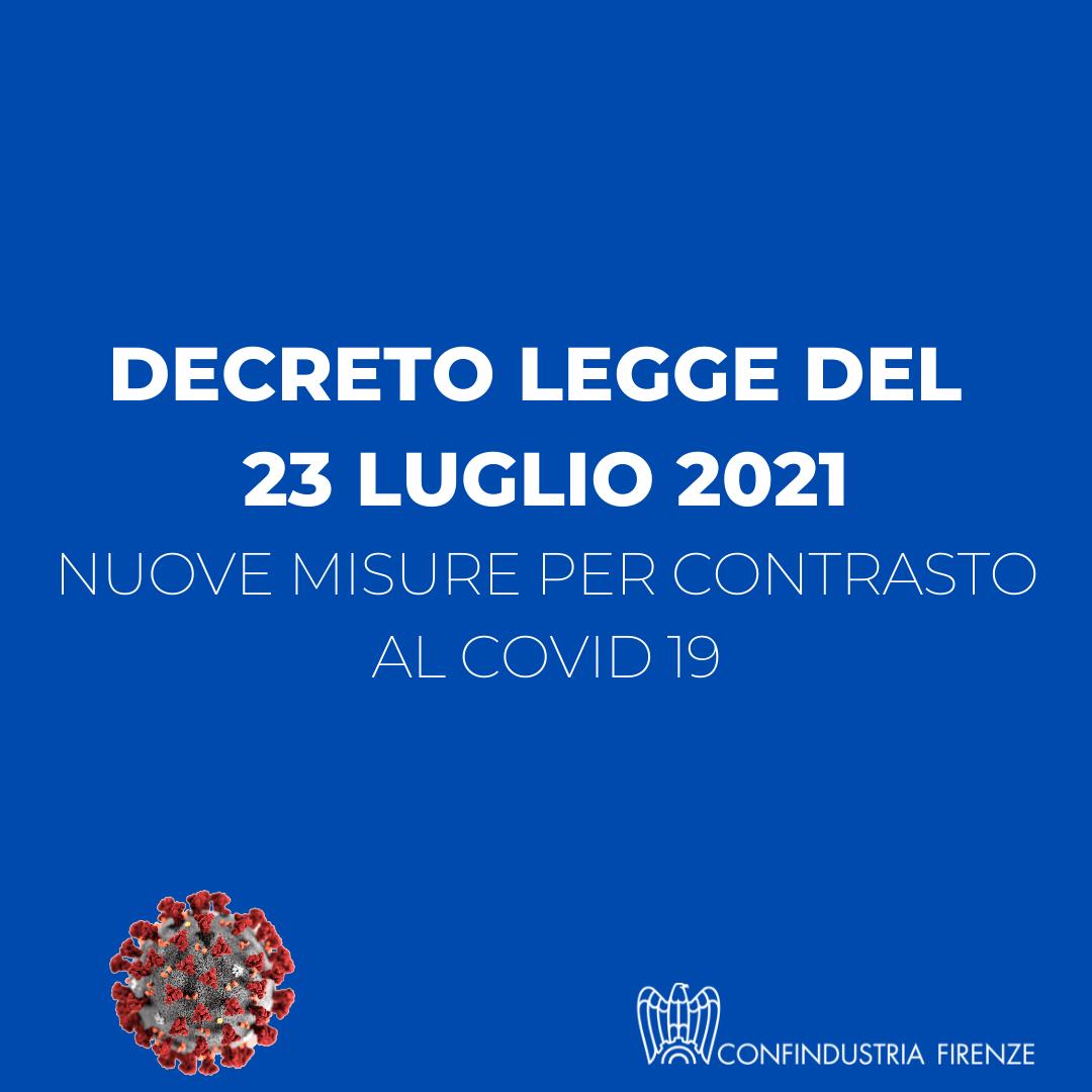 decreto legge 23 luglio 2021